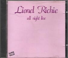 """LIONEL RICHIE-RARO CD ONLY ITALY 1994""""ALL NIGHT LIVE"""""""