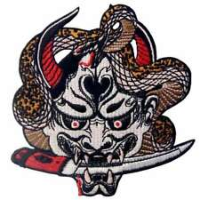 Embroidered Iron Sew on Patches Transfers Badge Appliques Hannya Oni Mask 495r