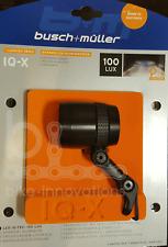 Busch & Müller LUMOTEC IQ-X SCHWARZ LED Frontscheinwerfer 100 Lux 164RTSNDI-04