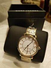 Marc Jacobs Roxy Gold Tone 36mm Steel Watch MJ3522 NWT $225