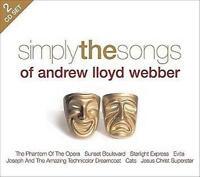 SIMPLY THE SONGS OF ANDREW LLOYD WEBBER Various: Feat. Phantom Of Opera 2CD NEW