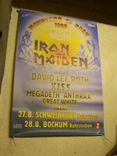 IRON MAIDEN,MONSTERS OF ROCK 1988 TOURPLAKAT 85x118  m-/  gerollt