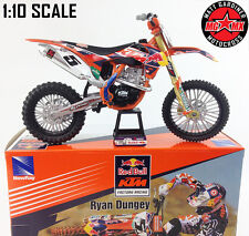 RYAN DUNGEY KTM SXF 450 - 1:10 Die-Cast Motocross Mx Motorbike Toy Model Bike