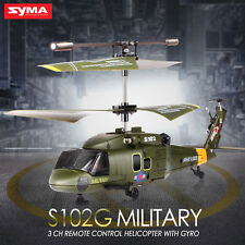 Syma S102G Simulation Military RC Helicopter 3 Channel Remote Control With GYRO