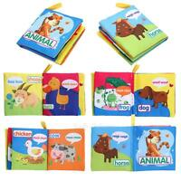 Infant baby intelligence mental development activity cot cloth cognize book toy