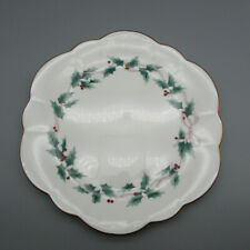 Mikasa Bone China Ribbon Holly Cake Plate