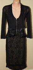 Womens Gorgeous Black Lace and Frill Dress - Cue - Size 8