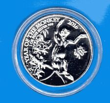 UK Lunar 2016 Affe  2 Pounds 1 Oz Silber  * TOP *