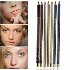 2 Pcs Waterproof Eye Cosmetic Eyebrow Pen 2 In 1 Lipliner Eyeliner Pencil