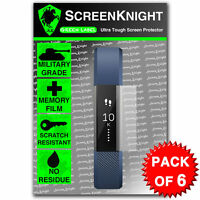ScreenKnight Fitbit Alta SCREEN PROTECTOR invisible Military shield - PACK OF 6