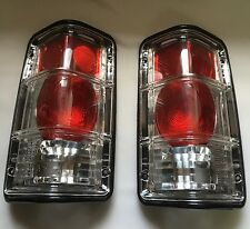 81-93 DODGE RAM PU TAIL LIGHTS CLEAR SET OF 2 BLACK TRIM  81/93 RAM CHARGER NEW