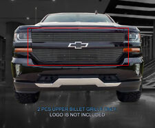 Fedar Fits 2016-2017 Chevrolet Silverado 1500 Polished Billet Grille Insert