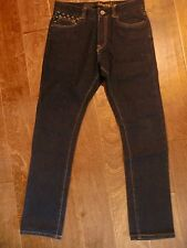 NWT Mens Emerica Dark Wash Jeans Skelter Slouch Fit Size 28X29 Cotton Blend BP26