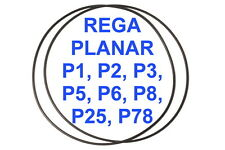 2X BELTS REGA PLANAR P1 P2 P3 P5 P6 P8 P25 P78 EXTRA STRONG TURNTABLE NEW FRESH