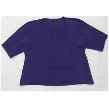 Investments II Sweater Purple Solid Women's Crewneck Long Sleeve 2X Rayon Nylon