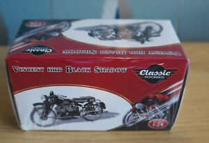 NEW SEALED BOXED ATLAS CLASSIC MOTORBIKE VINCENT HRD BLACK SHADOW
