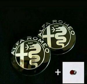 2 Stemma ALFA ROMEO 147 156 159 GIULIETTA MITO Logo Anteriore Posteriore Nero
