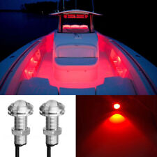 4x Red LED Boat Light Waterproof 12v Courtesy Bow Trailer Lake Party Loadrite