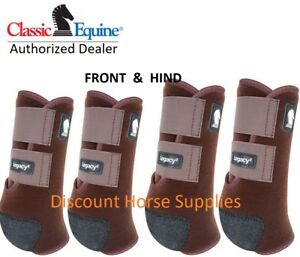 Classic Equine CHOCOLATE LEGACY2 Front Hind Rear Value 4 Pack Medium M SMB Boots