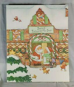 Hallmark Vintage Christmas Advent Calendar 1980s Santa's Enchanted Shop Shop EUC