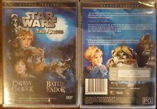 STAR WARS AN EWOK ADVENTURE; CARAVAN OF COURAGE & BATTLE FOR ENDOR DVD NEW R4