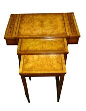 Vintage Unusual Weiman Regency Style Inlaid Stacking Tables