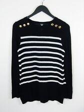 KENSIE // Size M / NEW Black & White Stripe Lightweight Knit Top // FREE POST