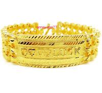 GOOD LUCK 22K 24K Thai Baht Yellow Gold GP Bracelet 7 inch 60 Grams  20 mm