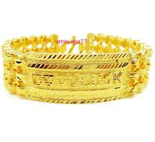 GOOD LUCK 22K 24K Thai Baht Yellow Gold GP Bracelet 7.5 inch 60 Grams  20 mm