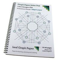Hexagon Graph Paper Jotter Pad 10mm, 110 A4 pages, Frosted Covers, 100gsm Paper