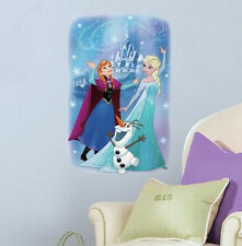 DISNEY FROZEN MAGIC wall stickers 1 huge decal Anna Elsa Olaf NEW DESIGN decor