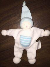 Schmusetuch Kuscheltuch Zipfelmütze Puppe Bio Baby Weiß Waldorf Türkis Blau