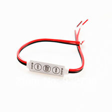 2Pcs 12V Mini LED Controller Dimmer 3 Keys 5 Modes for LED Strip 3528 5050 5630