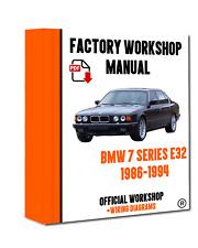 OFFICIAL WORKSHOP Manual Service Repair BMW Series 7 E32 1986 - 1994