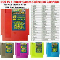 For NES Classic NTSC PAL Console500 IN 1 Super Games Card Collection Cartridge
