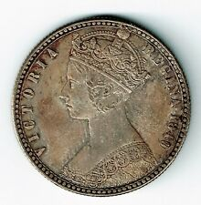 GREAT BRITAIN 1849 GODLESS FLORIN QUEEN VICTORIA UNCIRCULATED WITH LIGHT TONING
