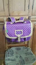 Tann's Heritage 1956 35cm Schoolbag - Purple tartan Junior School backpack