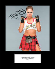 RONDA ROUSEY #1 (WWE) Signed (Reprint) 10x8 Mounted Photo Print - FREE DEL