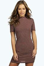 Stretch, Bodycon Striped Petite Dresses for Women