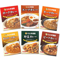 CoCo Ichibanya Curry House Retort Curry 6 Packs set 6 kinds of curry from Japan