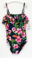 juicy couture kids wildflower ruffle maillot sz 12 nwt