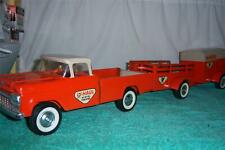 "Nylint U-Haul Ford Pickup Truck with Trailers 1960's Rare Pressed Steel 31"" Long"