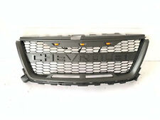Grill Fit For 2015-2019 Chevrolet Colorado Grey Grille 3 LED w/ Letters