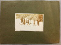 Lotto 3 foto d'epoca Montagna gita compagnia costume 1910