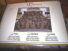 4 Piece King Size Sheets Camo Sheets 1200 Thread Count Sheets Camo Pillow Case