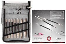 KnitPro Karbonz Interchangeable Circular Knitting Needle - Deluxe Set - Knit Pro