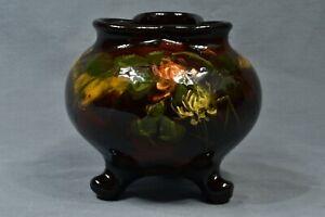 Weller Pottery 1898-1910 Aurelian 3 Footed Clover Flowers Vase #589 6 L Knaus