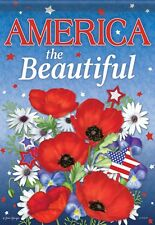 """America the Beautiful House Flag  28"""" x 40"""" Double sided Flag by Carson"""