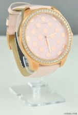 New Guess  Ladies Watch Pink Leather Women Designer NWT Classic