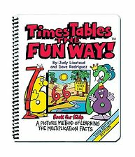 Times Tables the Fun Way: Book for Kids: A Picture Method of Le... Free Shipping